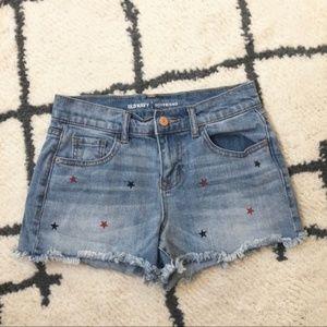 Old Navy boyfriend star jean shorts